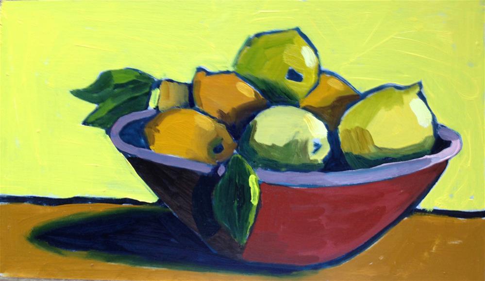 """My Gauguin Fruit Bowl"" original fine art by Pamela Hoffmeister"