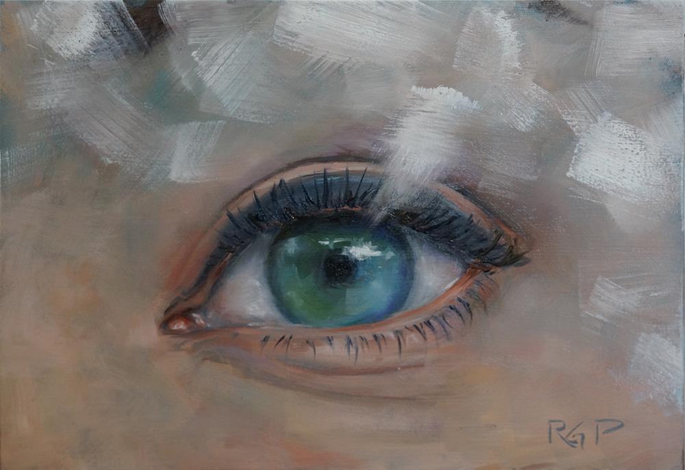 """Eye Study"" original fine art by Rhea  Groepper Pettit"