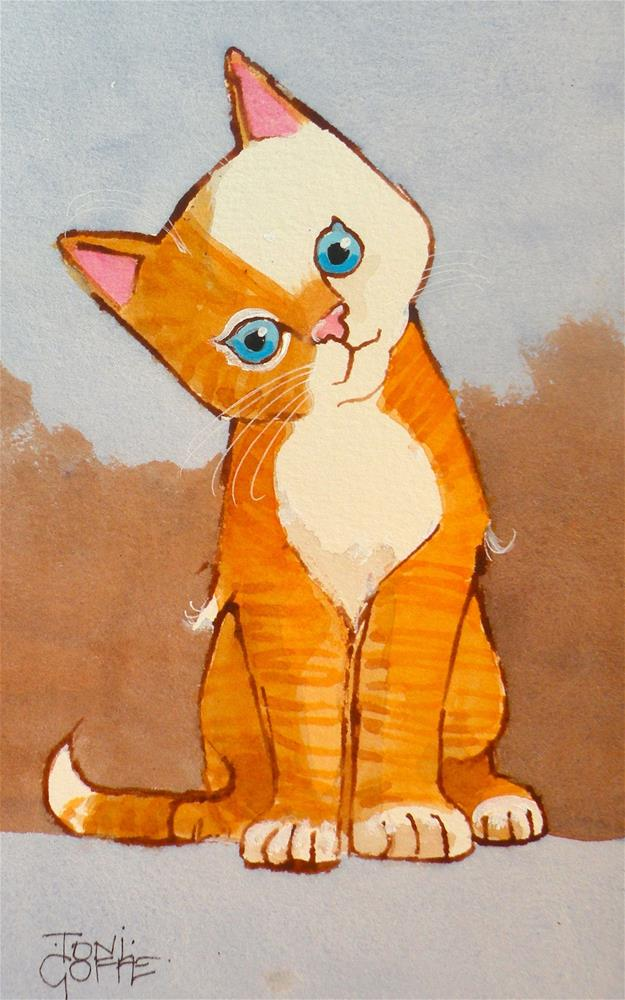 """You Looking at Me?"" original fine art by Toni Goffe"