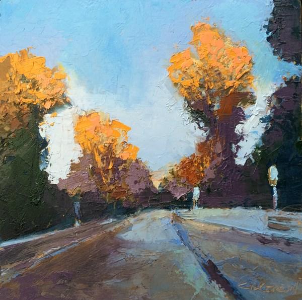 """Cabin Creek Bridge, Winter"" original fine art by Mary Gilkerson"