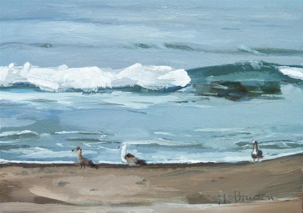 """""""Gulls"""" original fine art by Gary Bruton"""