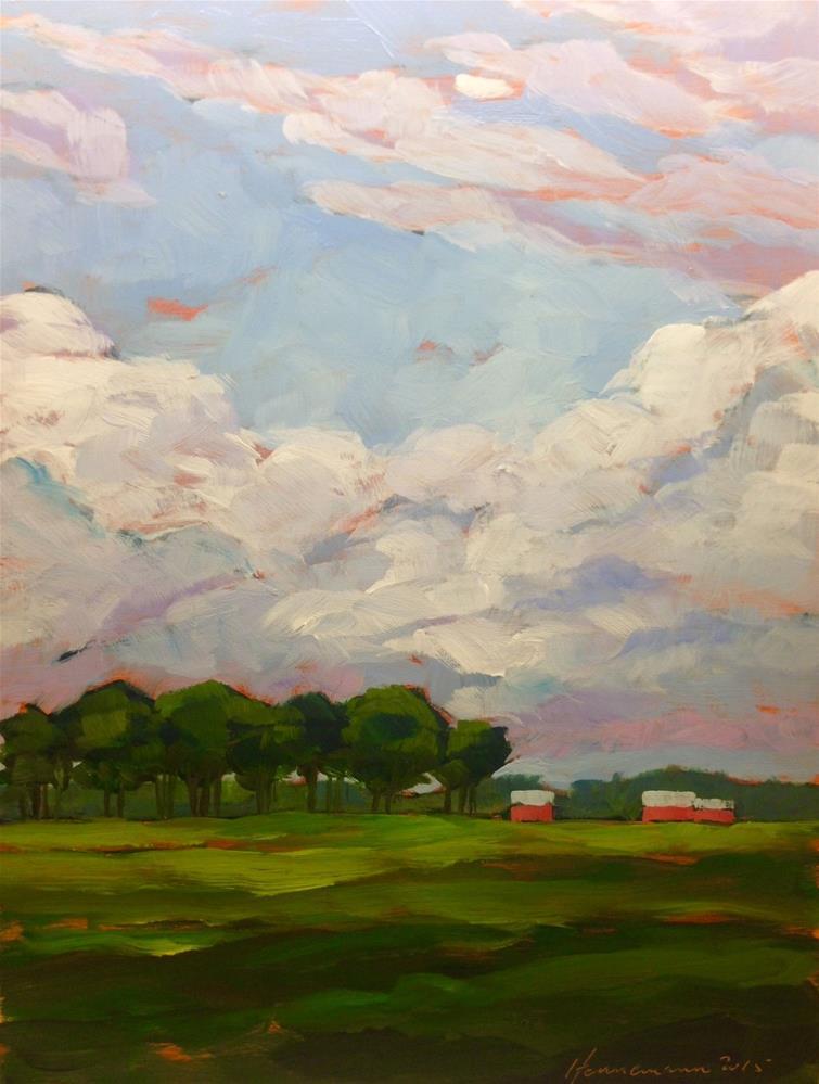 """""""Country Clouds"""" original fine art by Eileen Hennemann"""