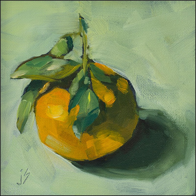 """My Sweet Clementine"" original fine art by Johnna Schelling"
