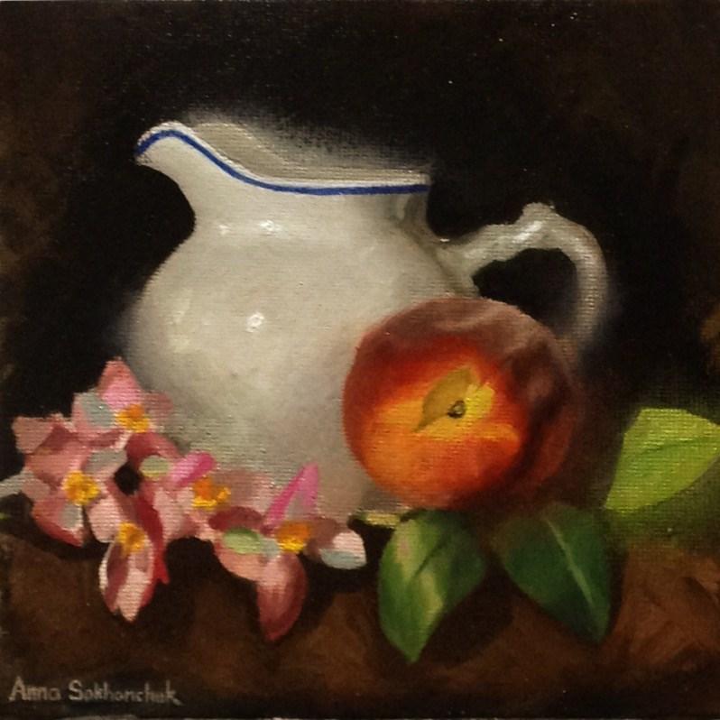 """""""Milk Jug"""" original fine art by Anna Sakhanchuk"""