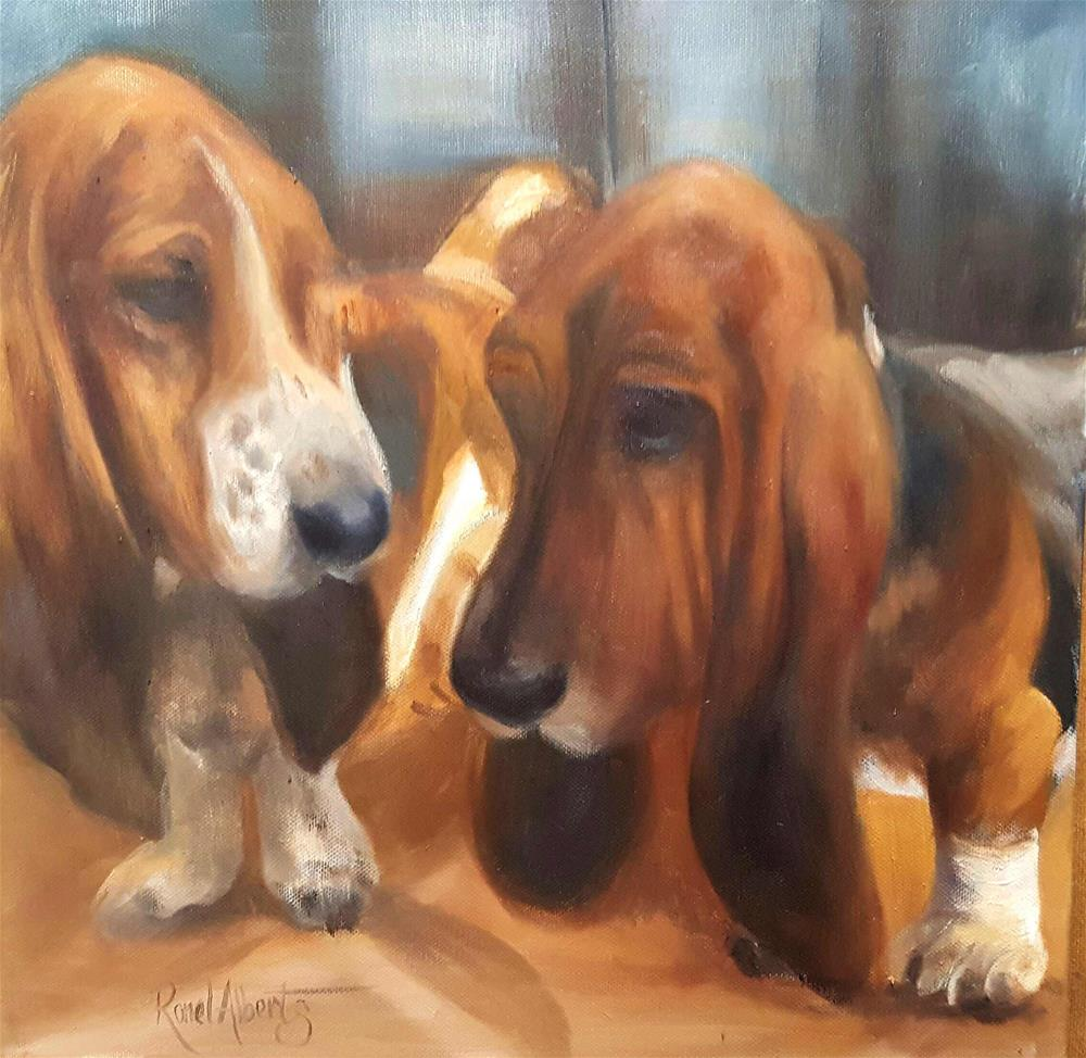 """Adopted friend"" original fine art by Ronel Alberts"