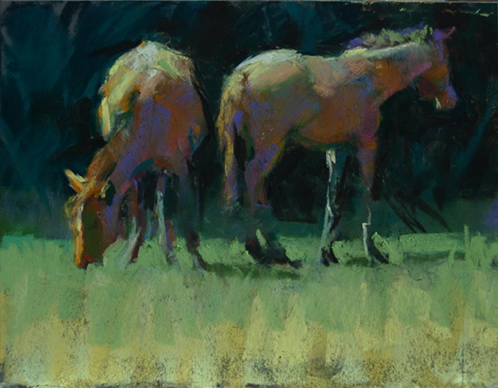 """""""Cumberland Island Ponies"""" original fine art by Margaret Dyer"""