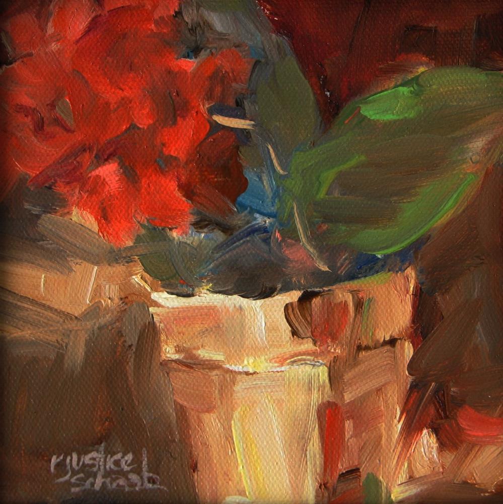 """Red"" original fine art by Rebecca Justice-Schaab"