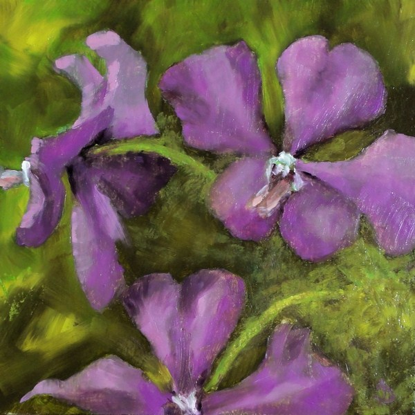 """""""Purple Heart Orchids II 6x6"""" original fine art by Dalan Wells"""