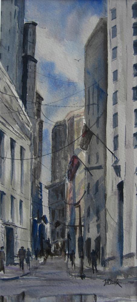 """""""Lower Manhattan"""" original fine art by Judith Freeman Clark"""