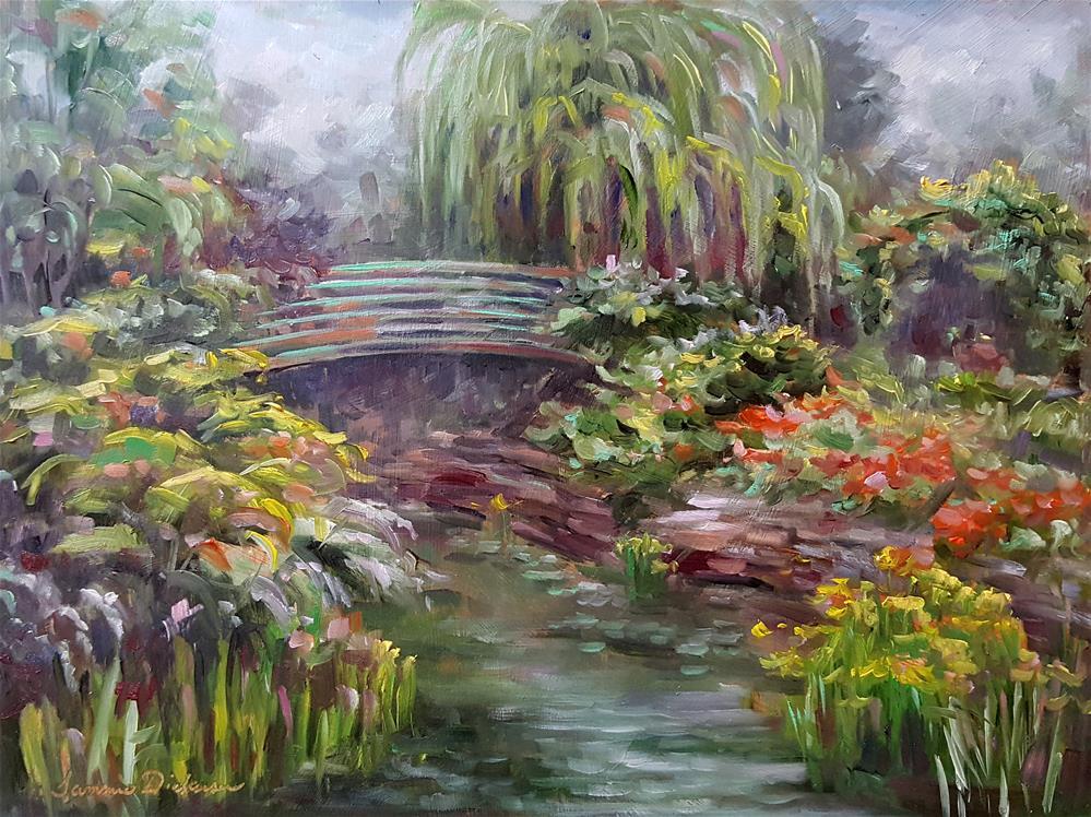 """Dreaming in Monet's Garden"" original fine art by Tammie Dickerson"