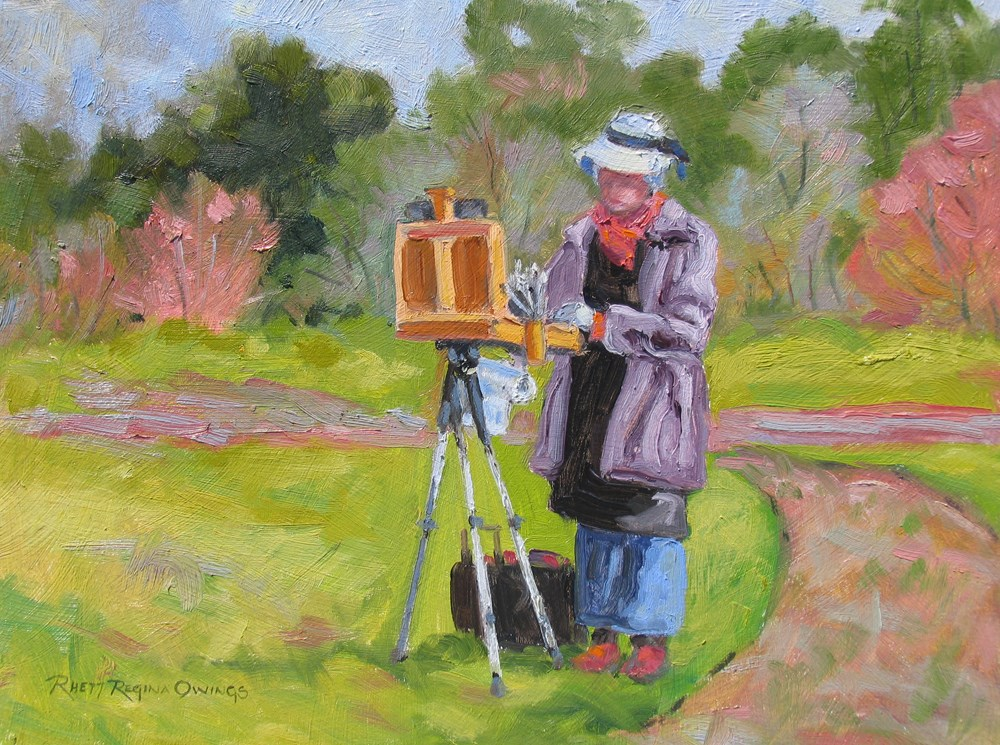 """Plein Air Painter"" original fine art by Rhett Regina Owings"
