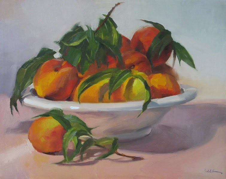 """The Peach Harvest"" original fine art by Sarah Sedwick"