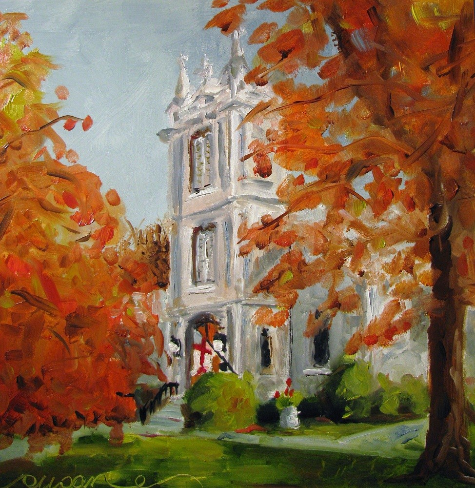 """St. Peter's Episcopal Church"" original fine art by Susan Elizabeth Jones"