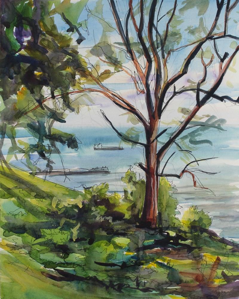 """Sunday Evening at Lake Ontario"" original fine art by Chris Breier"