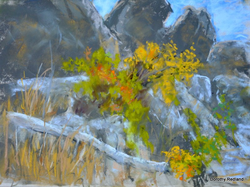 """Granit and Greenery"" original fine art by Dorothy Redland"