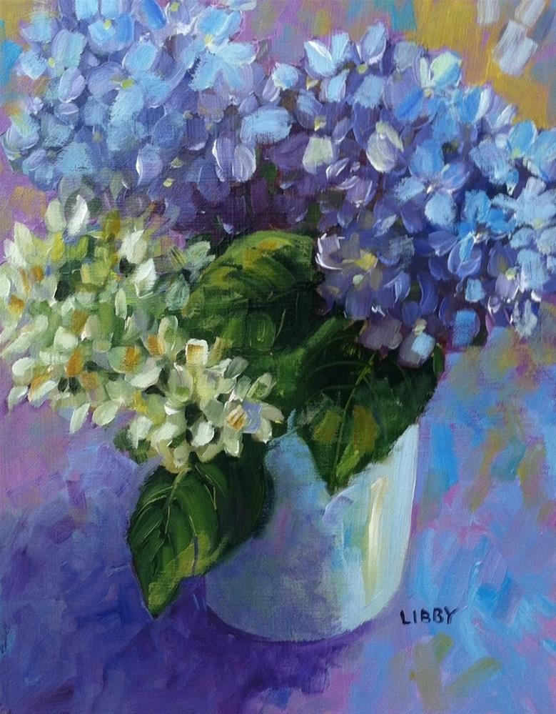 """Flowers for Verline"" original fine art by Libby Anderson"