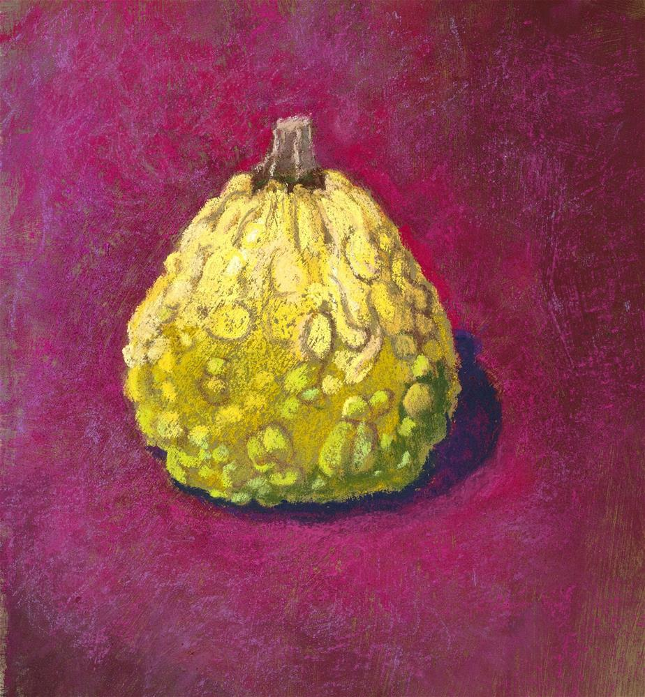 """Yellow Gourd"" original fine art by Christine Derrick"