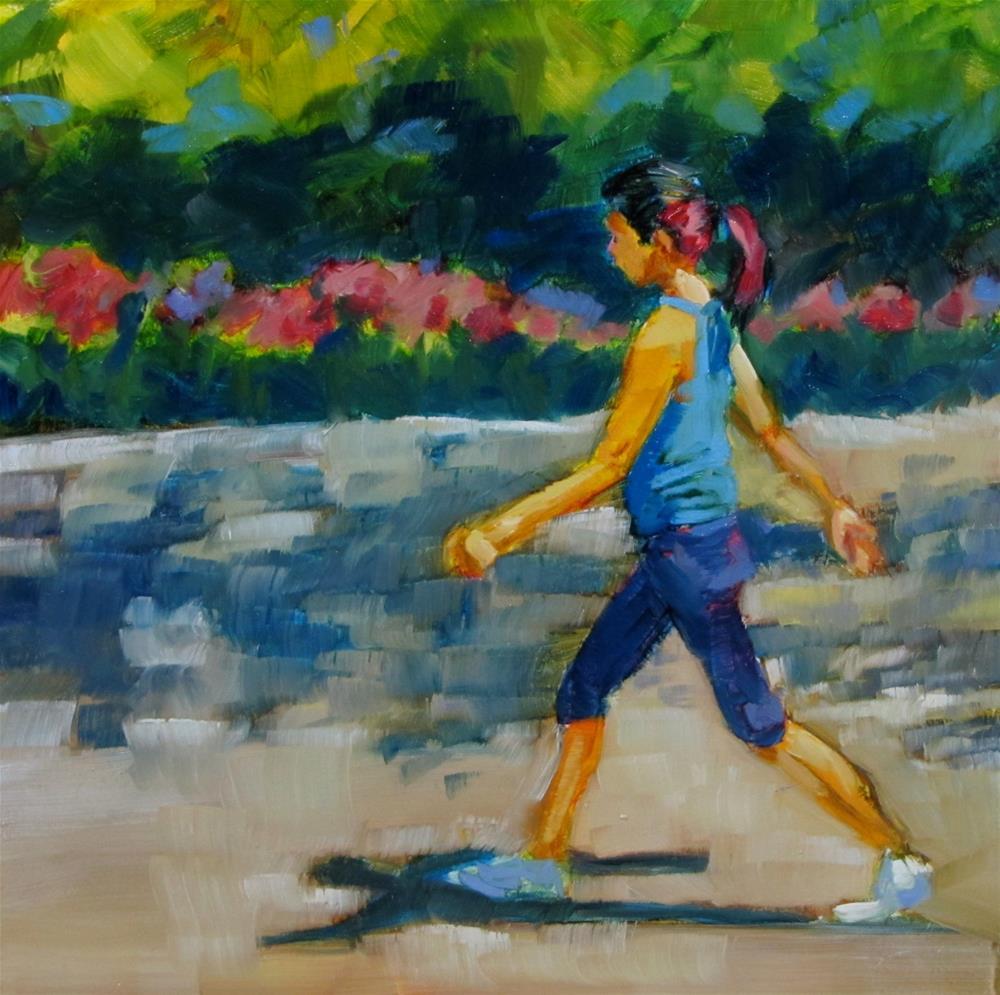 """Power Wlking"" original fine art by Christine Holzschuh"