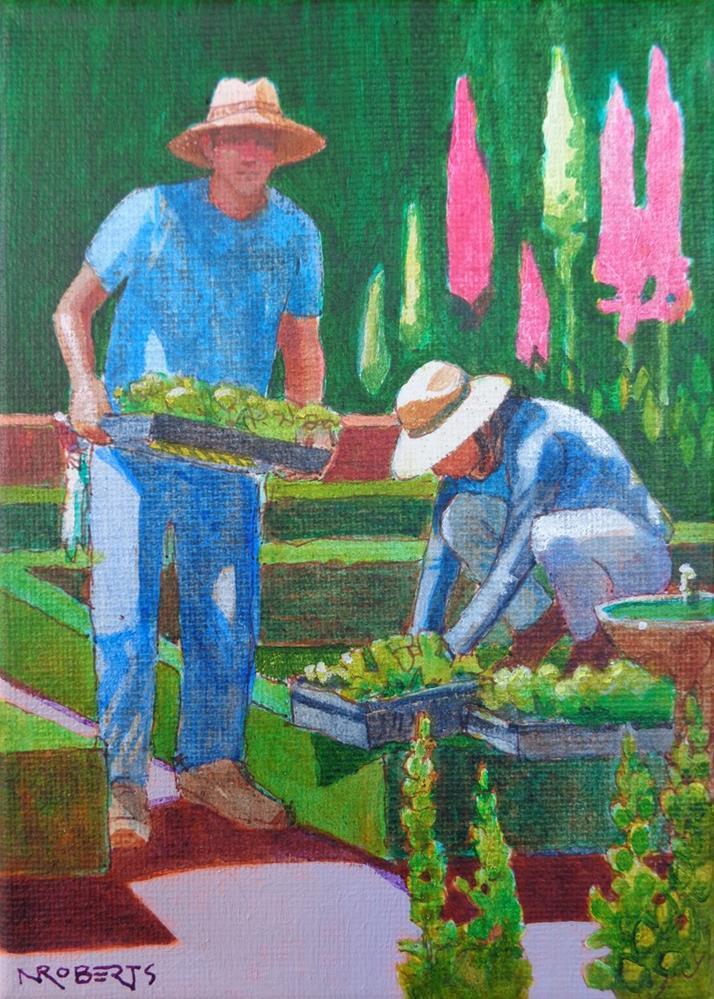 """Planting (Filoli)"" original fine art by Nancy Roberts"