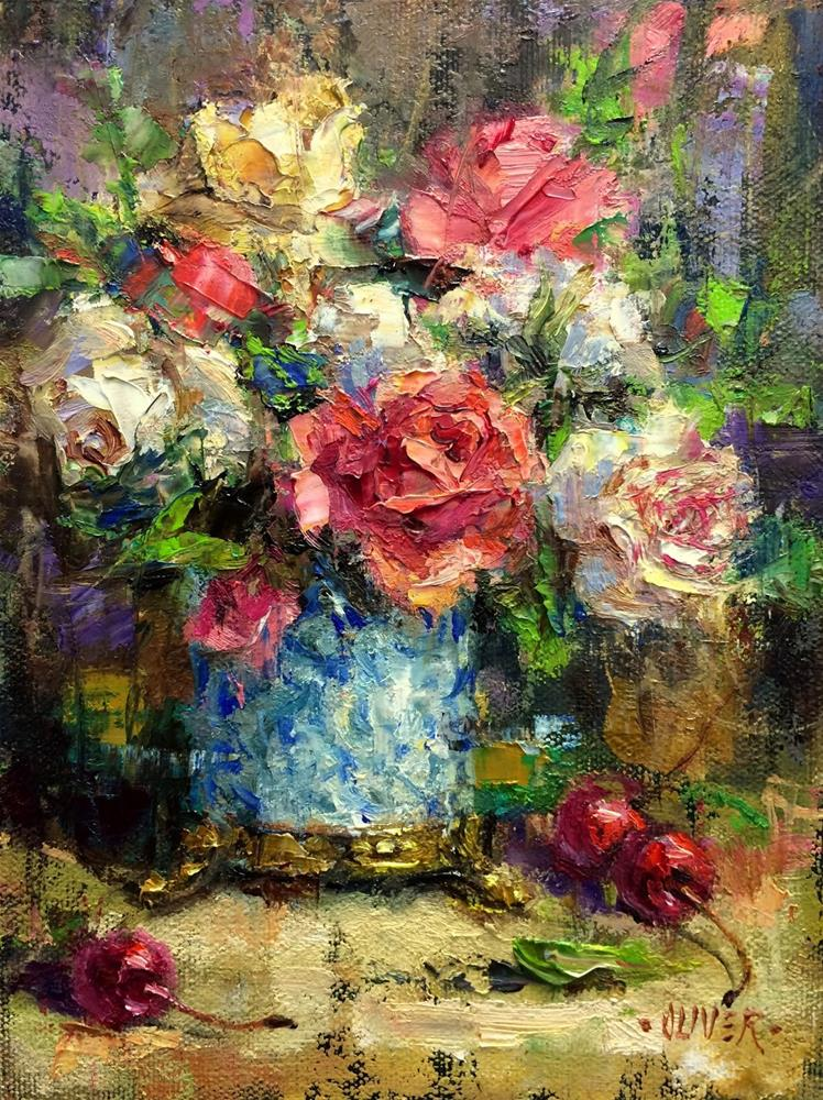 """Roses #4"" original fine art by Julie Ford Oliver"
