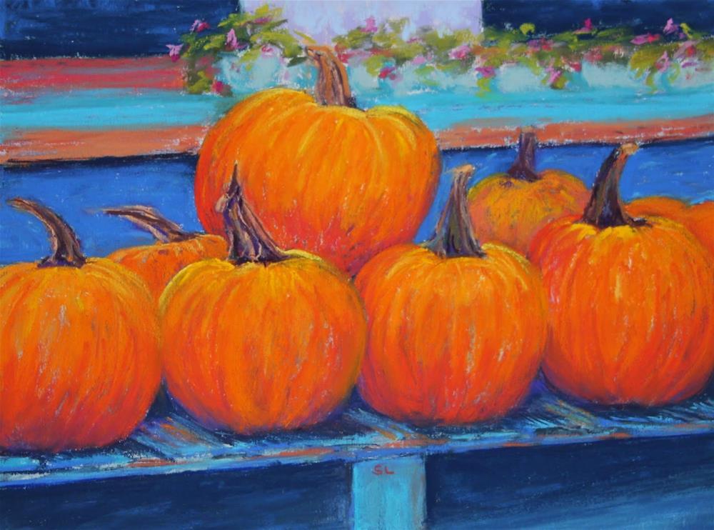 """""""Autumn Bounty"""" original fine art by Sharon Lewis"""