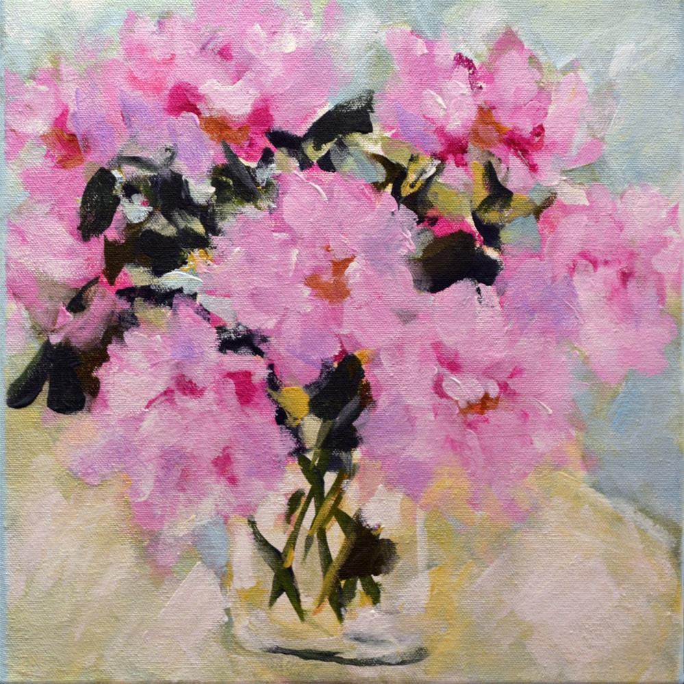 """Pink Peonies"" original fine art by Pamela Gatens"