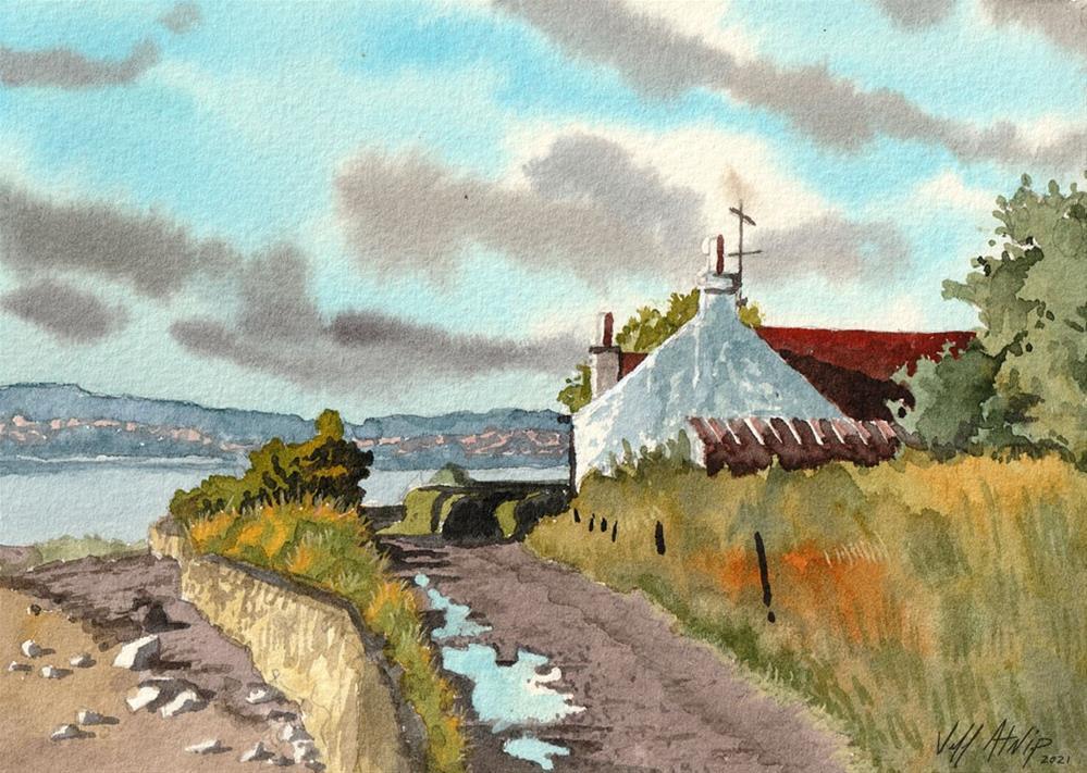 """Balmerino Cottage"" original fine art by Jeff Atnip"