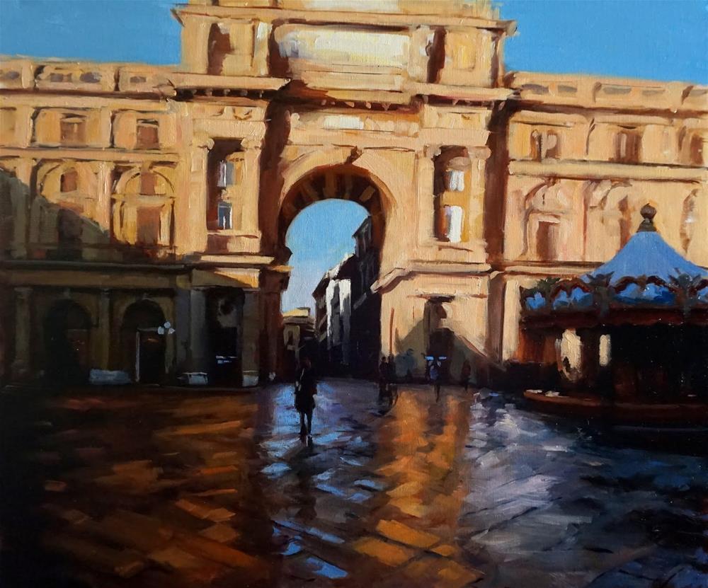 """""""Piazza Della Republica"""" original fine art by Jonelle Summerfield"""