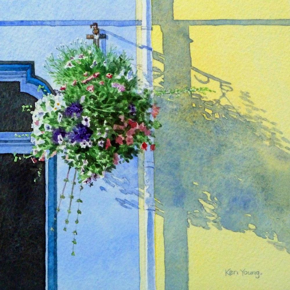 """Hanging Basket"" original fine art by Ken Young"
