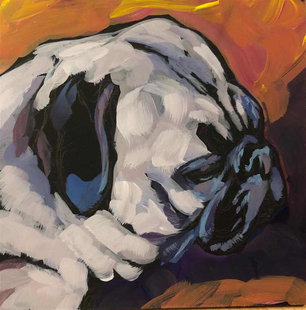 """Pug View #5"" original fine art by Kat Corrigan"