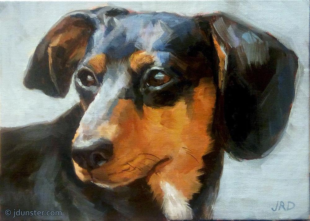 """Sincere Dog"" original fine art by J. Dunster"