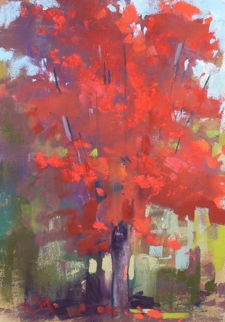 """The Secret to Painting Sunshine"" original fine art by Karen Margulis"