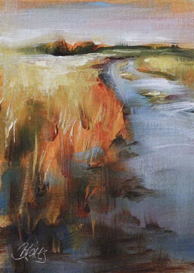 """Country Road Take Me Home"" original fine art by Pamela Blaies"