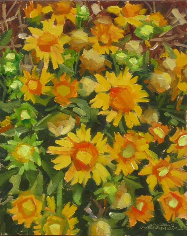 """Wildflowers"" original fine art by Karen Werner"