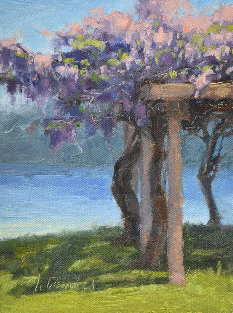 """""""Arbor Wisteria"""" original fine art by Laurel Daniel"""