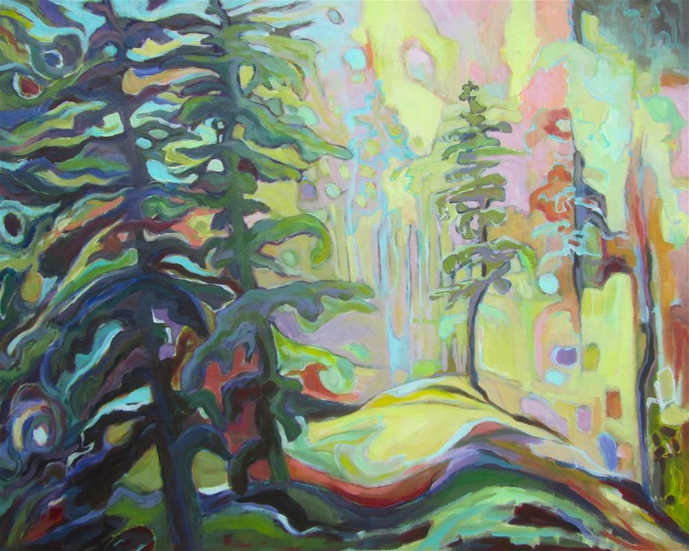 """Forest Rhythm"" original fine art by Patricia MacDonald"