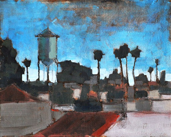 """""""Water Tower in North Park"""" original fine art by Kevin Inman"""