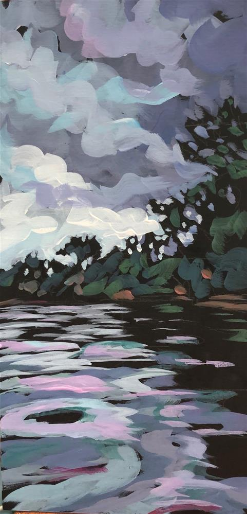 """Lake Nokomis Under My Chin"" original fine art by Kat Corrigan"