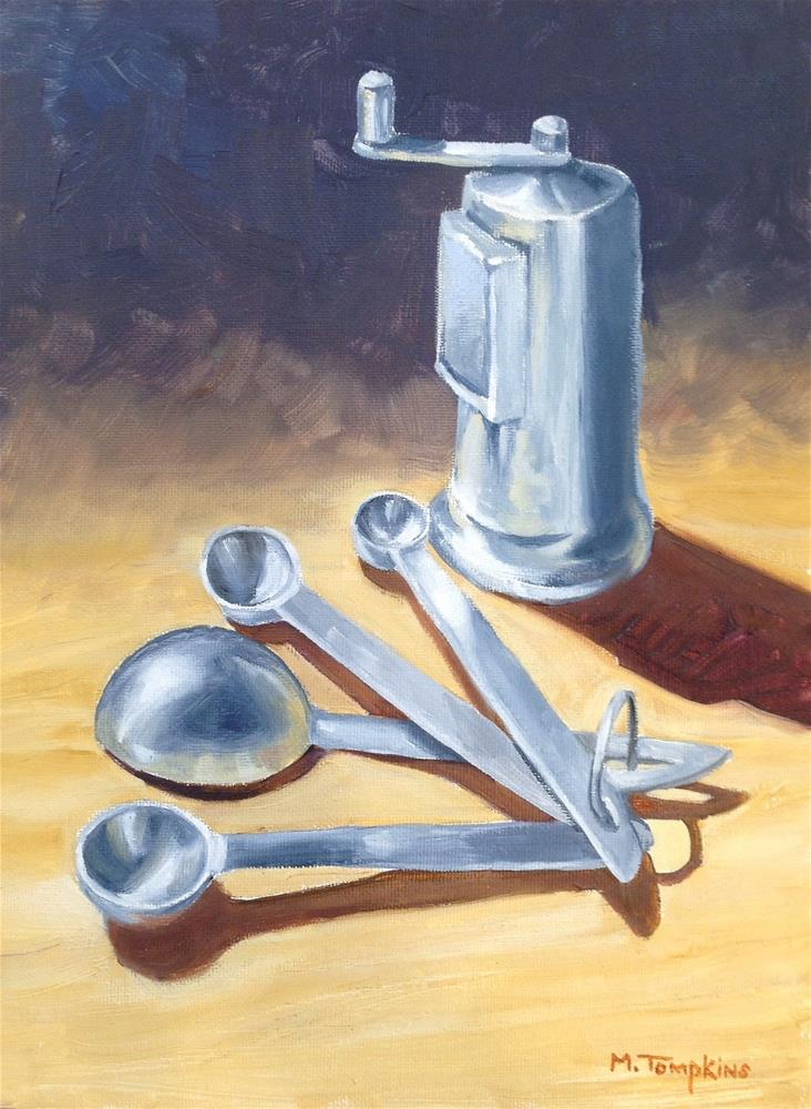 """""""Spoons & Grinder"""" original fine art by Mark Tompkins"""
