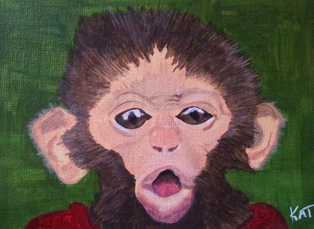 """Monkey Business"" original fine art by Kathleen Carrier"