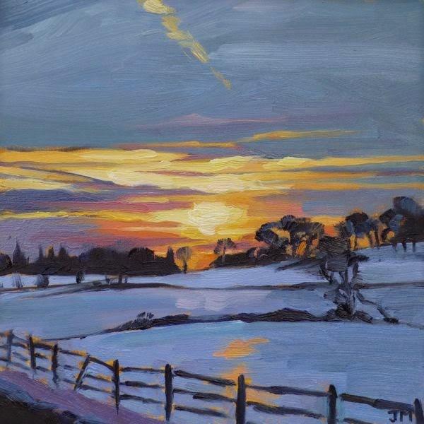 """Sunset at Stone Barns"" original fine art by Jessica Miller"