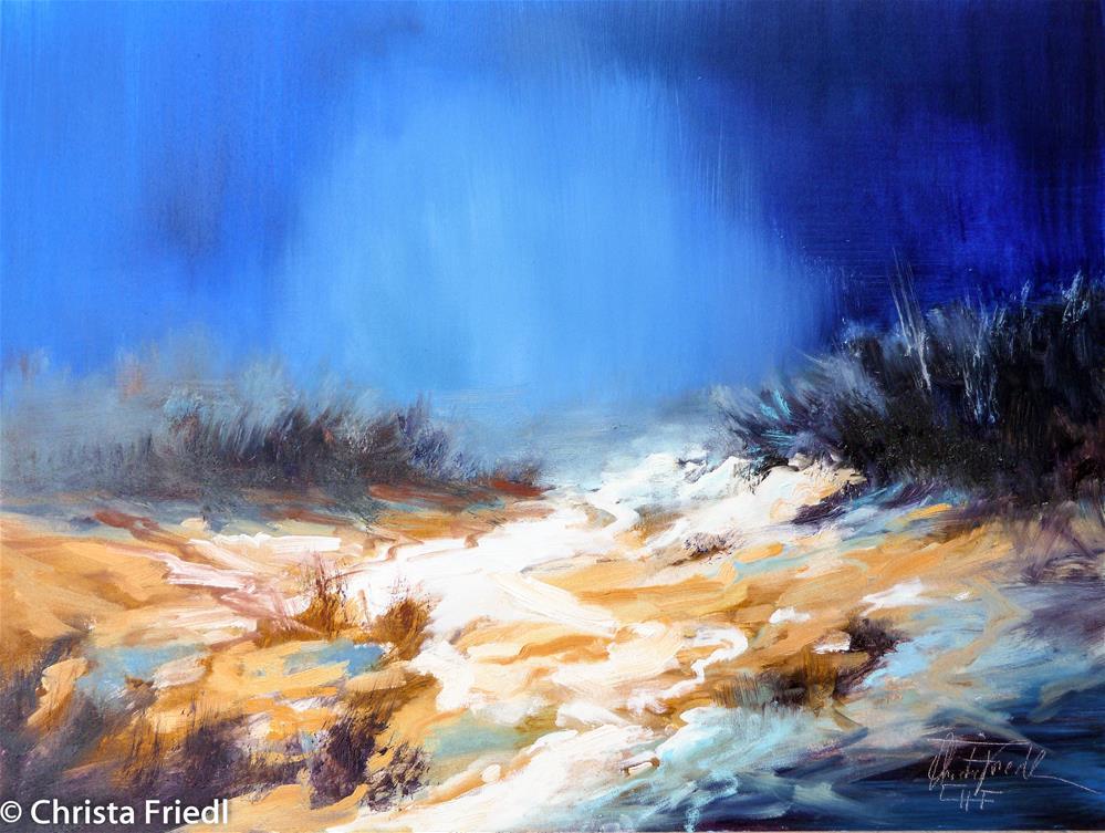 """Moonlightpath to the beach"" original fine art by Christa Friedl"