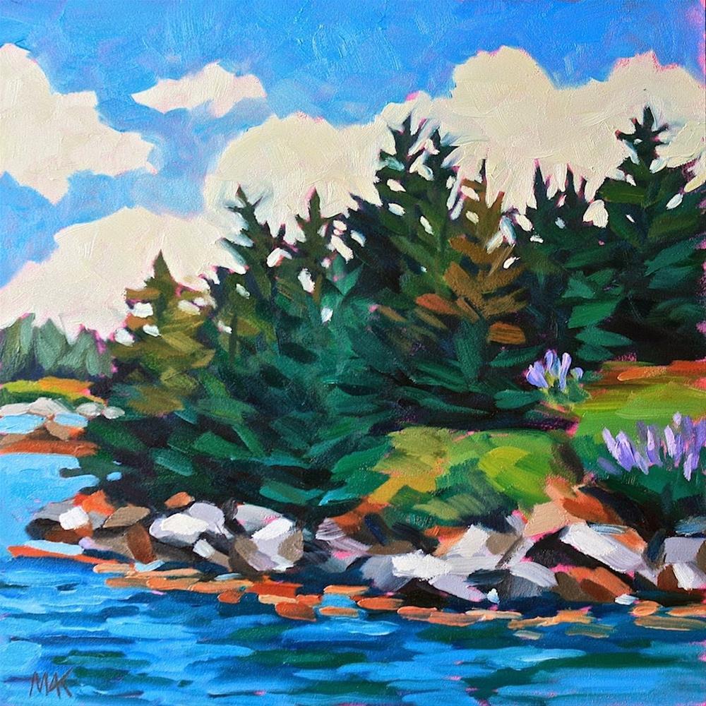 """Pine Island"" original fine art by Mary Anne Cary"