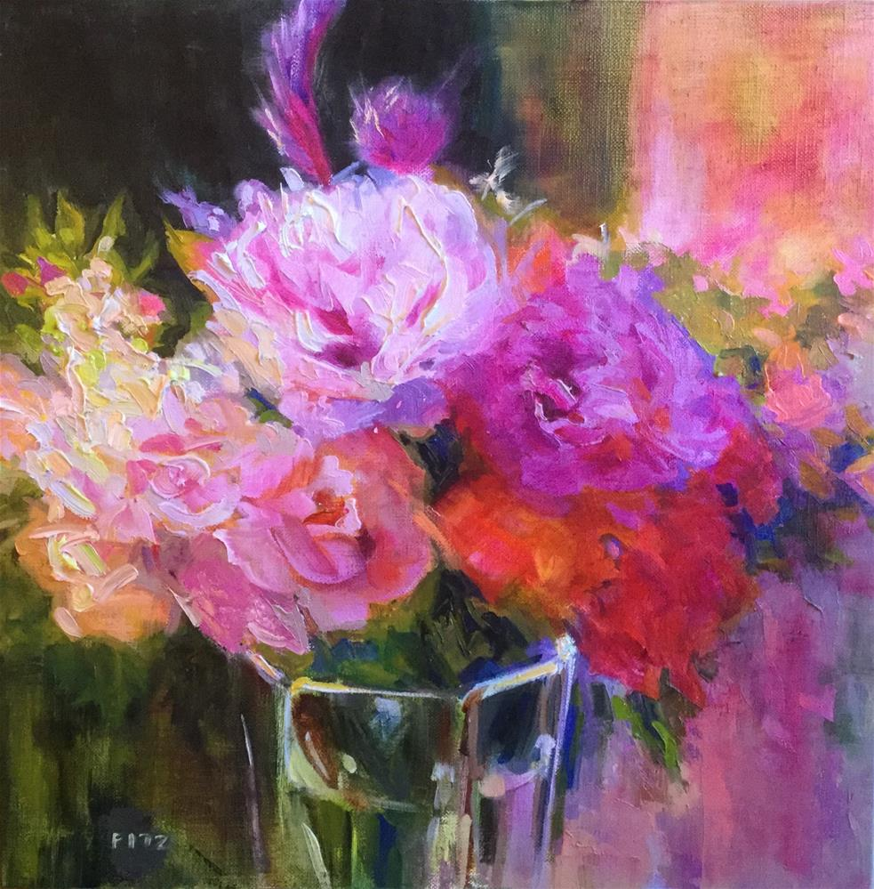 """Peonies and Friends"" original fine art by Charlotte Fitzgerald"