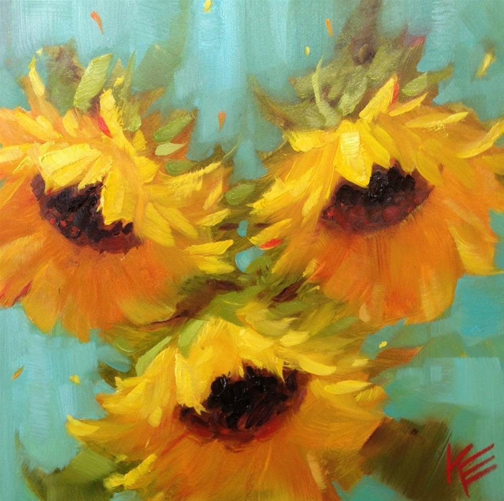 """""""Sunflowers For May"""" original fine art by Krista Eaton"""