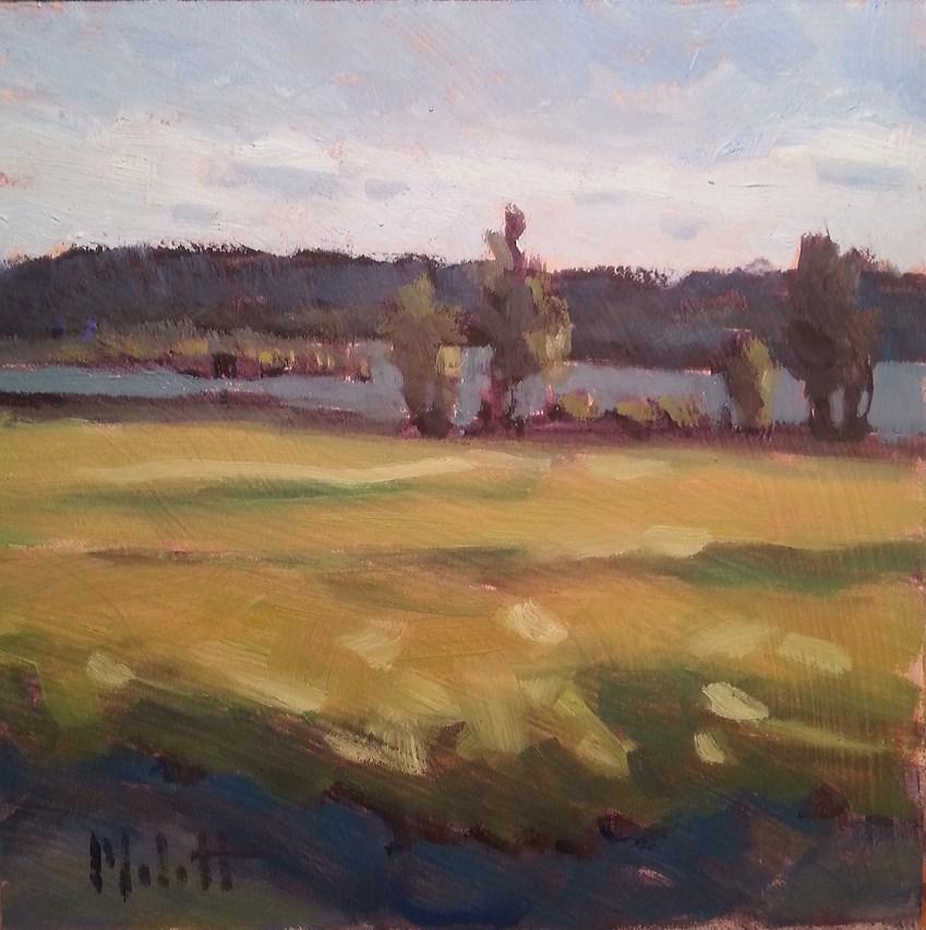 """Lake in September Daily Oil Painting"" original fine art by Heidi Malott"