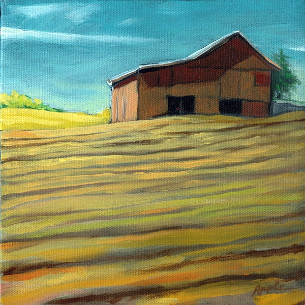 """Country Fields"" original fine art by Linda Apple"