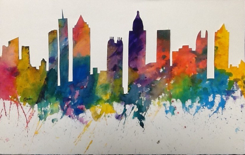 """Enchanting Atlanta"" original fine art by Elaine Ford"