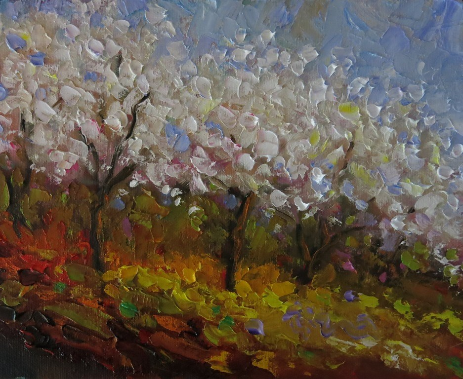 """ORCHARD GARDEN"" original fine art by Dee Sanchez"