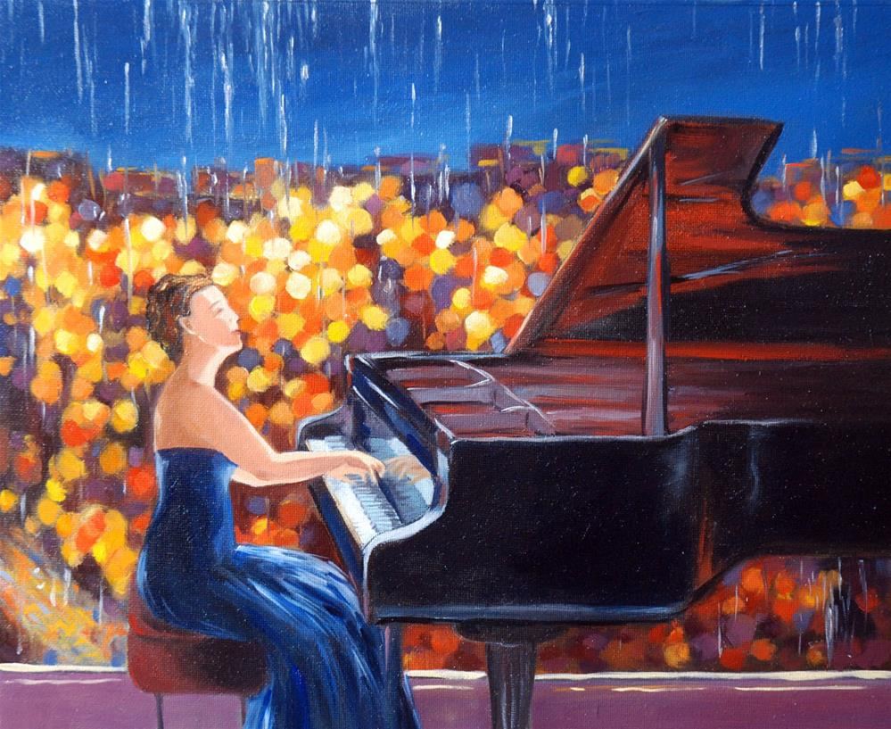 """DCS # 15 The rainy day dreams"" original fine art by Olga Touboltseva-Lefort"